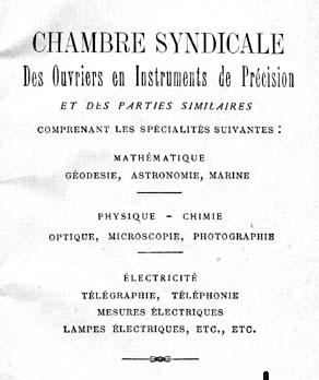 Origine syndicale de la coop rative ouvri re a o i p for Chambre de syndicale